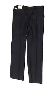 NEW!! Ernesto Bellini Men's Blue 100% Wool Trousers Size 38R Unhemmed/Dry Clean