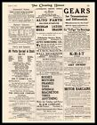 1916 K. C. Auto Parts Co Kansas City Missouri And Auto Wrecking Company Print Ad