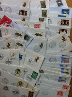 FDC ART - San Marino - Anni 70 / 80 - Lotto di 76 Buste con annulli vari