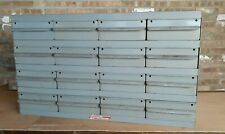 Real Equipto Usa 16 Drawers Unit Metal Parts Cabinet 17 Deep With Dividers