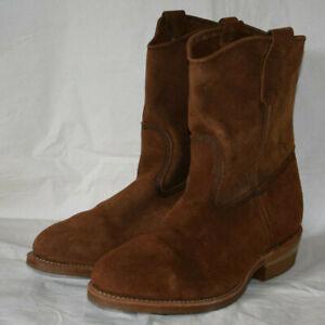 Red Wing 8255 Pecos Steel Toe Brown Suede Boots UK8 US9EEE EU42