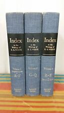 COMPREHENSIVE INDEX TO THE WRITINGS OF ELLEN G.WHITE, Three Vol. copyright 1962