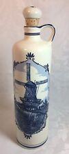 Delft Blue Windmill  Decorated Ceramic Bottle Cork Stopper BOLS - Holland EMPTY