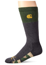 1 Pair Carhartt Outdoor Crew Socks, Men's Shoe 6-12, Gray, Wool Hunting B25 MP