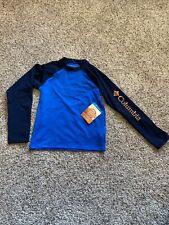 New Boys Columbia Steamboat Long Sleeve Rash Guard Swim Shirt XS 6/7 Extra Small