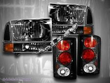 2000-2004  FORD EXCURSION BLACK HEADLIGHTS TAIL LIGHTS+CORNER 2000-2004