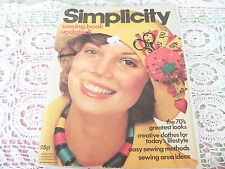 VINTAGE SIMPLICITY SEWING CLOTHES PATTERN BOOK DRESS SKIRT JACKET PANTS FABRIC