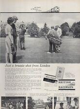 1962 British Railways Train Gleneagles Scotland PRINT AD