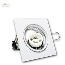 Einbaurahmen Weiß Einbauleuchte GU10 schwenkbar Einbaustrahler eckig GU 10 230V