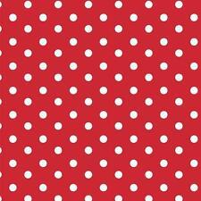Baumwollstoff Große Punkte Rot METERWARE Webware Popeline Stoff Big Dots