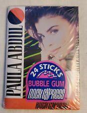 Vintage 1991 Paula Abdul Music Bubble Gum, 24 Gum Sticks Rock ExPress New Sealed