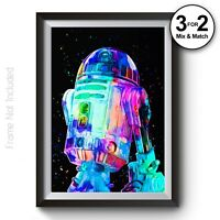 Abstract Painting R2D2 Poster Classic Movie Wall Hangings on 100/% Cotton Fine Art Paper Star Wars Wall Art Print Giclee FanArt Posters