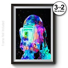 R2D2 Star Wars Movie Poster - Abstract Classic Movie Wall Art Prints - StarWars