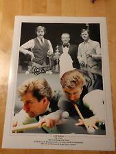 Cliff Thorburn Autograph / Signed Photograph. 41x30cm Snooker Legend