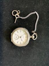 Antique Illinois Pocketwatch Dueber Silverine Case 18s 7j