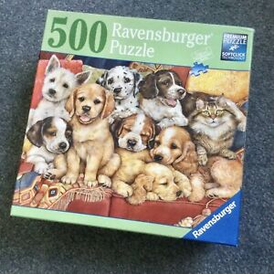 Ravensburger ~ 'Nothing to See Here'  500 Piece jigsaw puzzle - Dogs 🐶 Cats 🐈