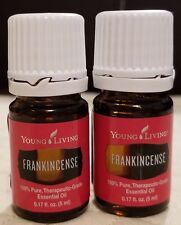 Lot of 2 Young Living FRANKINCENSE Essential 5 ml. Oils NEW FRESH - FREE SHIP!