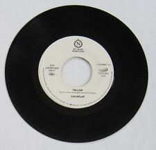 """Coldplay - 45 - """"Yellow"""" / """"Trouble"""" plays NM - slight warp does not affect play"""