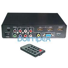 C03 YPbPr Component VGA AV USB auf HDMI Konverter Wandler Adapter TV DVD Monitor