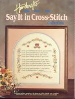 Cross Stitch Patterns Say It In Cross Stitch 17 Counted Patterns Projects Crafts