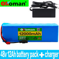 48V12AH Li-ion Battery Volt Rechargeable Bicycle 1000W E Bike Electric + Charger