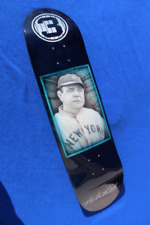 Custom Airbrushed Babe Ruth Portrait Skateboard Deck Painting Yankees Man Cave