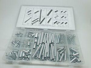 200 x Federn Druckfeder Zugfeder verzinkt Set Satz  Feder Sortiment 4 - 9,5 mm
