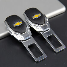 2x Car Auto Interior Accessories Safety Seat Belt Plug Clip Logo For Chevrolet