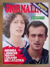 GIORNALINO n°33 1981 Larry Yuma Pinky Gianna Nannini + inserto Hodgson [G409A]