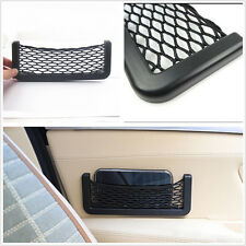 Black Elasticated Car Seat Side Storage Net Bag Phone Key Holder Tool For Holden
