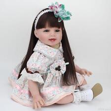 "Realistic Reborn Baby Dolls 22"" Real Life Soft Vinyl Baby Girl Doll Kids Gift"
