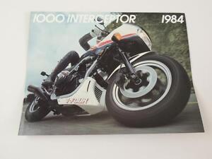1984 Honda 1000 Interceptor VF1000F VF1000 Dealer Brochure L136