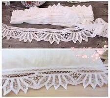 Lot~9Y~Victorian Style Handmade Battenburg Lace Trim/Edging~White~Wedding/DIY~