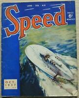 SPEED Magazine Oct 1937 Brooklands 500 Report CAMPBELL WATER RECORD
