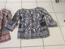 Lucky Brand Womens Tops prints Small S Peasant Tie Keyhole Blouses pair.