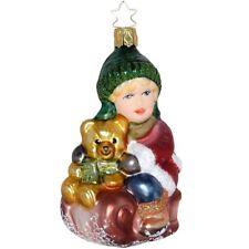 Schlitten freie Fahrt Inge-Glas Weihnachtsschmuck