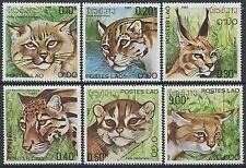 LAOS N°370/375** Félins TB, 1981 wildcats SC#346-351 MNH