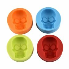 3D  half Skull Silicone mold chocolate candle wax soap ice cube