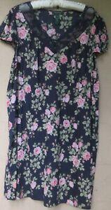 Ralph Lauren Navy Blue Floral Nightgown   XL