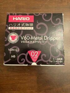 Hario V60 Metal Dripper 1-4 Cups Matt Black  Made in Japan 1-4 Cups PLEASE READ