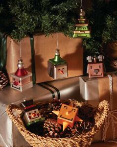 ALESSI Xmas Cubik Ornaments - Santa Snowman Star Tree Penguin Reindeer (GJ02)