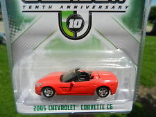 1:64 GreenLight *Tenth 10th Anniversary* Red 2005 Chevrolet Corvette C6 *NIP*