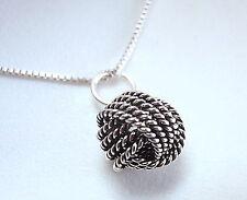 Small Bali Knot Pendant 925 Sterling Silver Corona Sun Jewelry