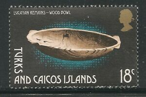 Turks & Caicos Islands #291 (A51) VF MNH - 1974 18c Wood Bowl - Artifacts