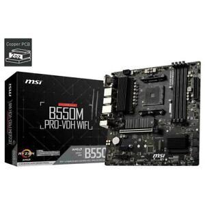 MSI B550M PRO-VDH WIFI AMD AM4 mATX Gaming Motherboard DDR4 PCIe 4.0 M.2 HDMI