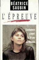 L'épreuve - Béatrice Saubin - Livre - 392008 - 1817587