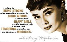 """Audrey Hepburn Quote Canvas Print  A1 30"""" x 20"""""""