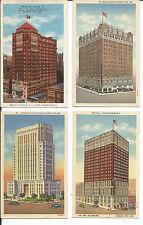 4 Kansas City Tall Buildings Postcards