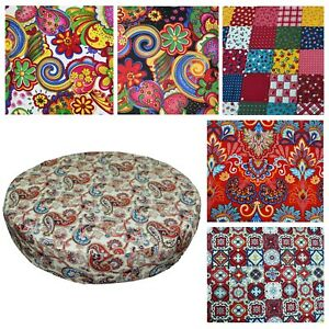 "2""Thick-Round Box Shape Cover*A-Grade Cotton Canvas Chair Seat Cushion Case*Lf2"