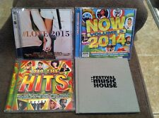 5 CD LOT #Love 2015, Now 2014 Volume 3, All the Hits & 2011 Festival Music House